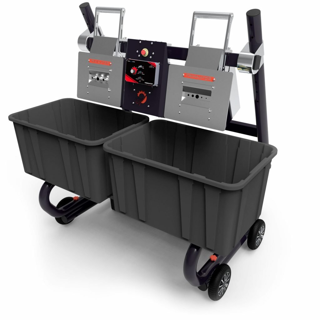Buckmaster pro set up with two buckets